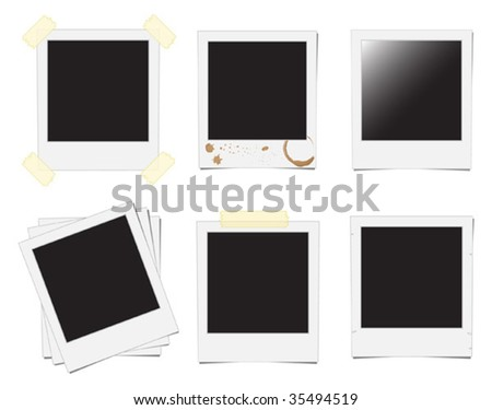 instant photo frame - stock vector