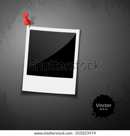 Instant photo. vector illustration - stock vector