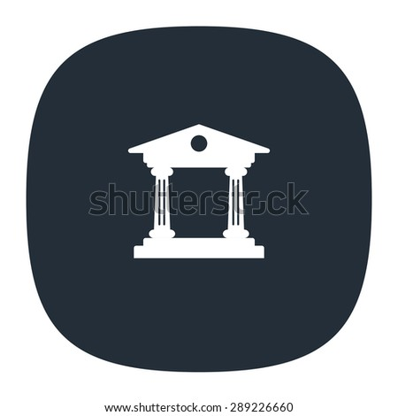 Institution vector icon - stock vector