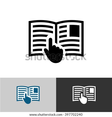 instruction manual icon open book pages stock vector royalty free rh shutterstock com open text rightfax user guide Owner's Manual