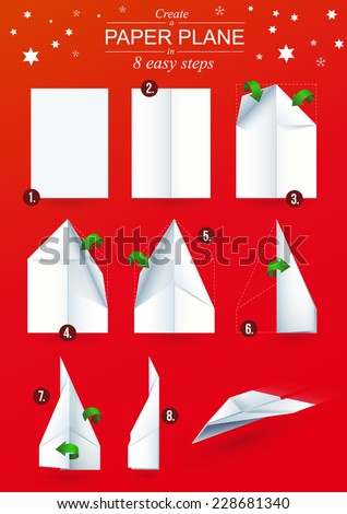 how to make paper plane easy steps
