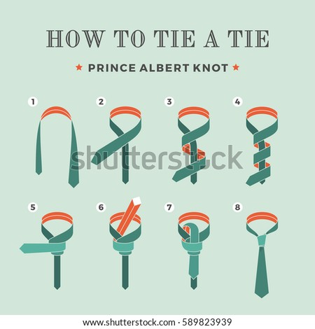 Instructions on how tie tie on stock vector 2018 589823939 instructions on how to tie a tie on the turquoise background of the six steps ccuart Choice Image