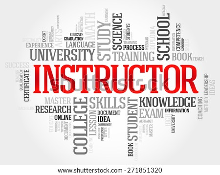 INSTRUCTOR word cloud, education concept