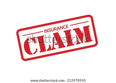 INSURANCE CLAIM red Rubber Stamp vector over a white background. - stock vector
