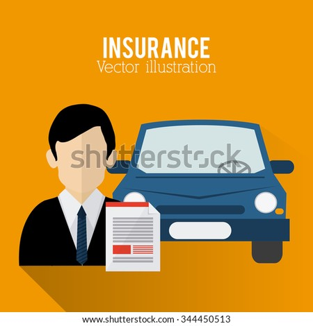 Insurance concept with icons design, vector illustration 10 eps graphic.