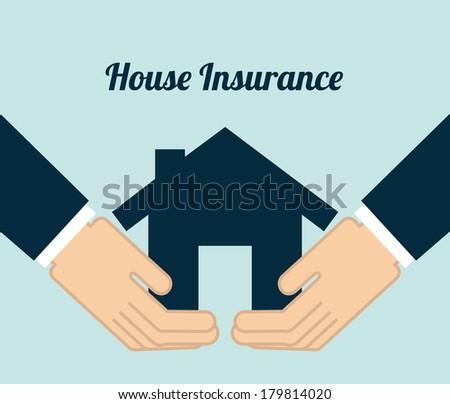 insurance design over   blue background vector illustration - stock vector