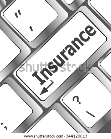 Insurance key in place of enter key vector illustration