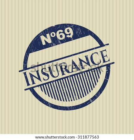 Insurance rubber grunge stamp