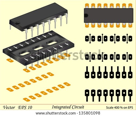 Integrated Circuit - stock vector