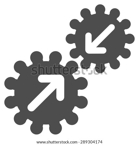 Integration icon from Business Bicolor Set. Vector style: flat symbol, gray color, rounded angles, white background.
