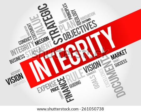 Integrity word cloud, business concept - stock vector