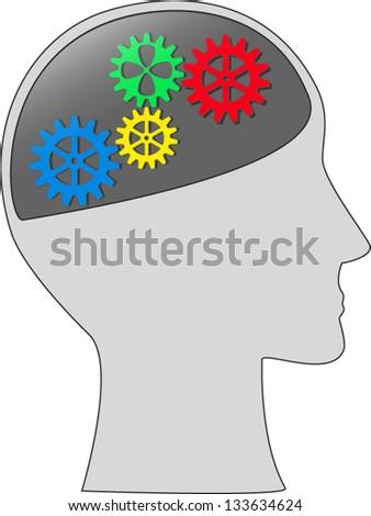 intellect (Illustration, vector) - stock vector