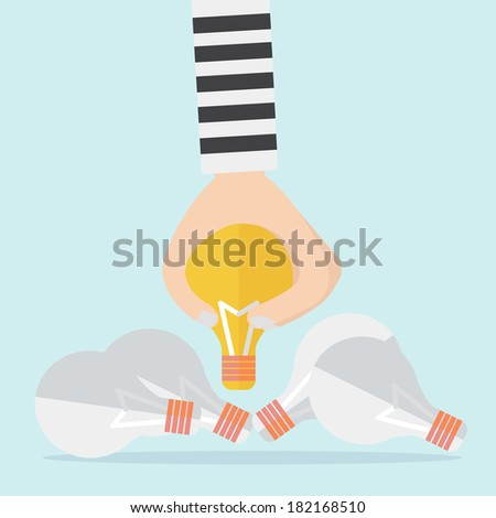Intellectual property and steal idea concept - stock vector