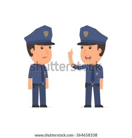 Intelligent Character Officer learns and gives advice to his friend. Poses for interaction with other characters from this series