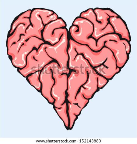 intelligent love - stock vector