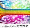 Intensive rainbow colors background - abstract vector - stock vector