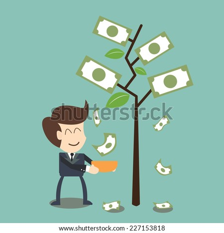 interest  and dividend concept - stock vector
