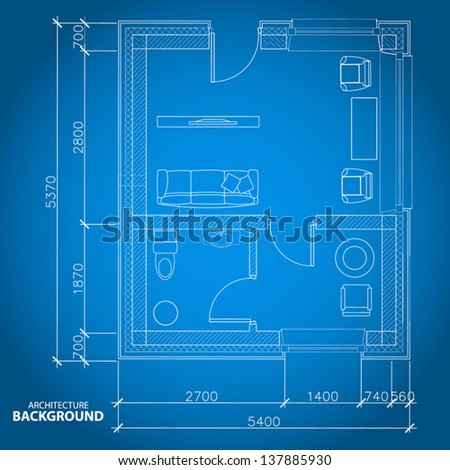 Interesting architectural background in unique style. Vector illustration - stock vector