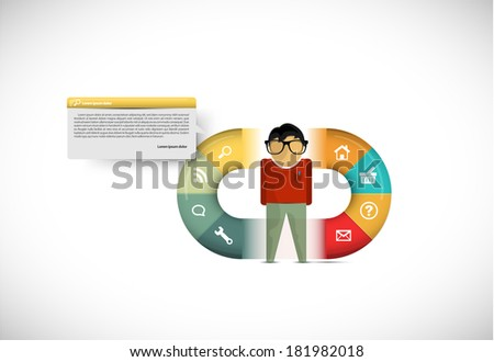 Interesting infographic illustration with a vector figure - stock vector
