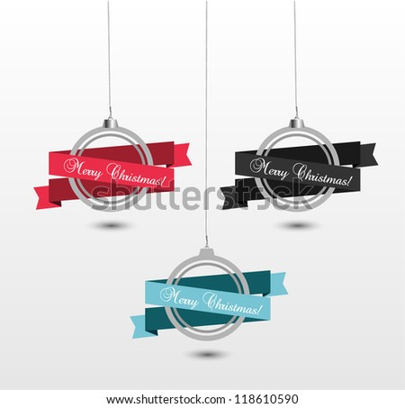 Interesting ornaments for christmas - stock vector