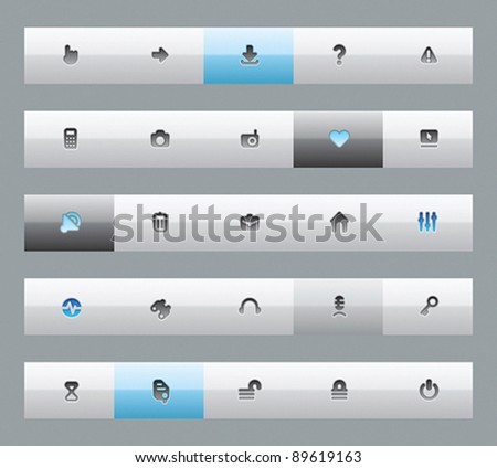 Interface buttons for computer programs and web-design. Vector illustration.
