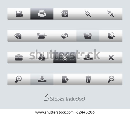 Interface // Classic Series +++ It includes 3 buttons states in different layers. +++ - stock vector