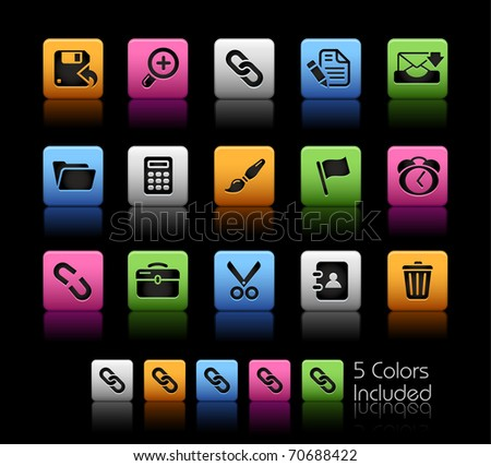 Interface Icons // Color Box -------It includes 5 color versions for each icon in different layers --------- - stock vector