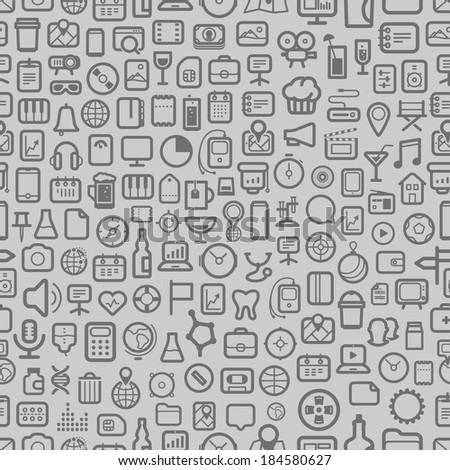 interface icons seamless background