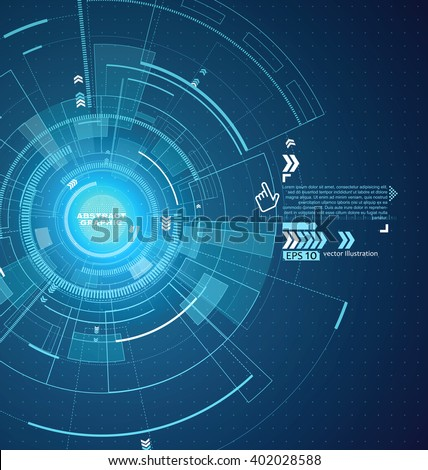 Interface technology, the future of user experience. - stock vector