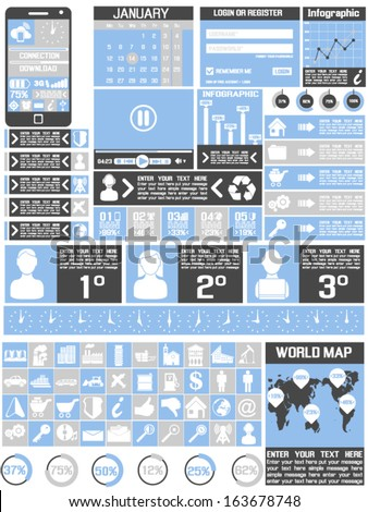 Interface  Template Human  Modern Concept For Internet Web - stock vector