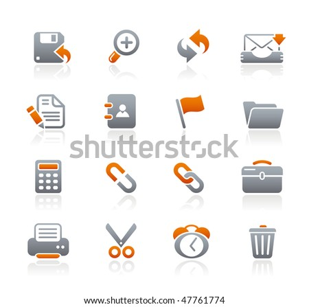 Interface Web Icons// Graphite Series - stock vector