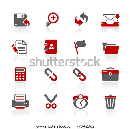 Interface Web Icons // Redico Series - stock vector