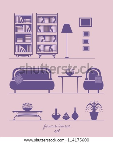 interior and furniture set