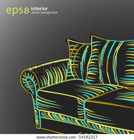 interior background eps8 - stock vector