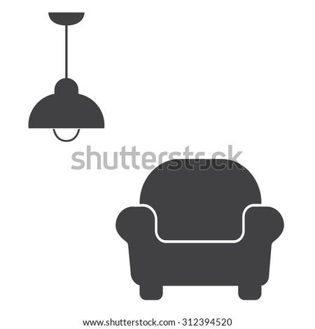 Interior Design Icon Stock Vector 312394520