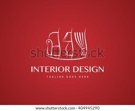 Interior Design Logo - stock vector