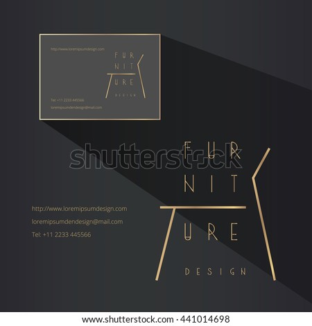 Furniture logo stock images royalty free images vectors for Interior design business names