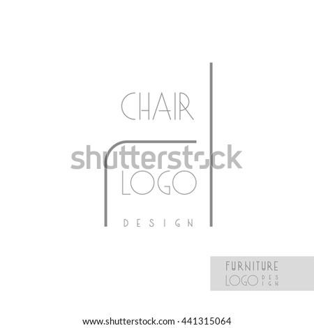 Interior designer brand identity chair line stock vector - Interior design company names list ...