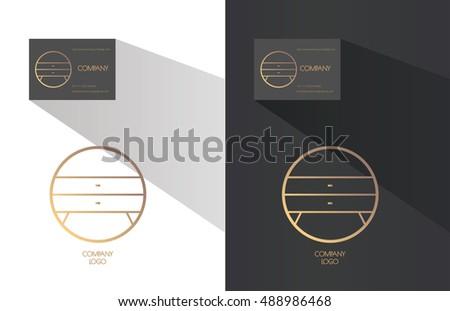 Abstract Line Art Wooden Closet Symbol Stock Vector 452424892 Shutterstock
