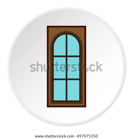 Interior door icon. Flat illustration of interior door vector icon for web