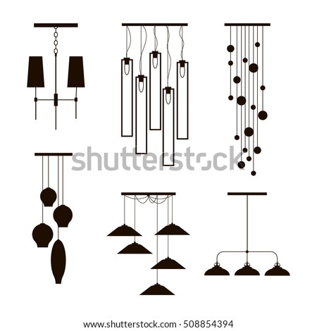 Wall Lamps Vector : Hanging Lamp Vector Chandelier Vector Decorate Stock Vector 331684592 - Shutterstock