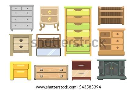 Bedroom Furniture Bedside Table Nightstand Basket Cabinet