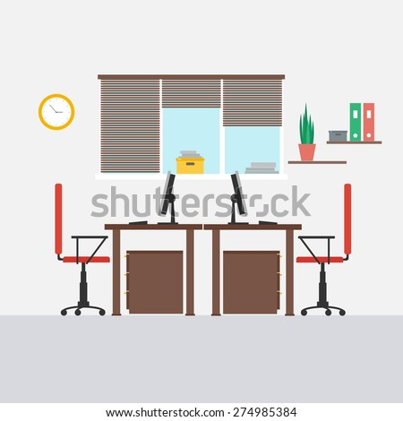 pictures of an office. interior of an office with two chairsvector illustration for design pictures