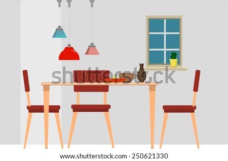 Dining room grey walls