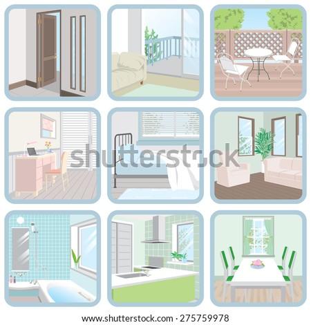 Interior / Room - stock vector