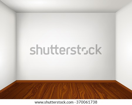 Interior with empty room with white walls and wooden floor. Vector illustration eps 10. - stock vector