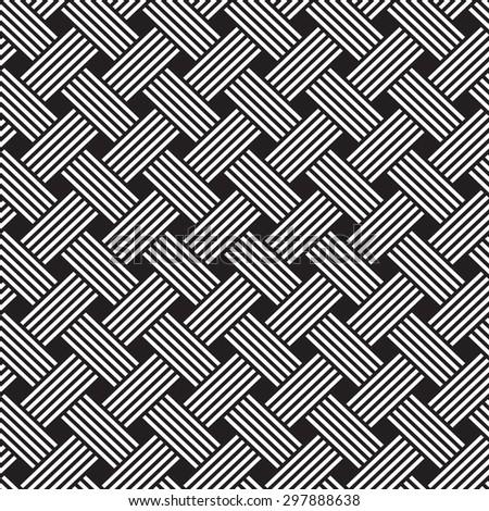 interlacing pattern - stock vector