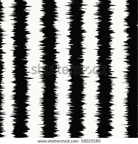 Interlacing white and black stripes - stock vector