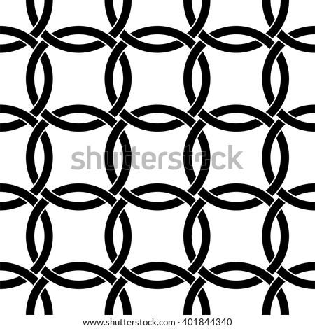 Interlocking circles pattern, Celtic pattern vector - stock vector