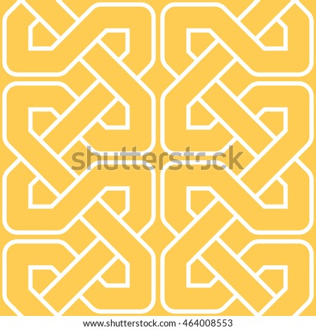 Interlocking lines pattern seamless background tile
